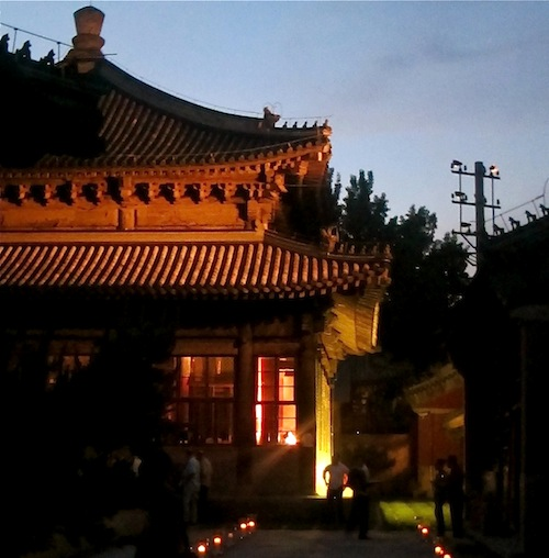 Temple Restaurant Beijing The Temple at nightfall