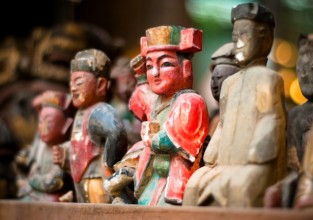 Antique Chinese Wooden Figurines