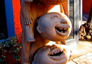 Children Laughing Statue