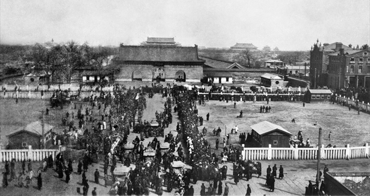 Funeral procession of Empress Dowager Longyu