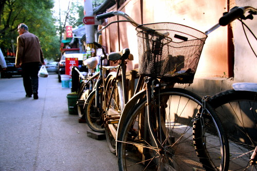 Bikes on our hutong