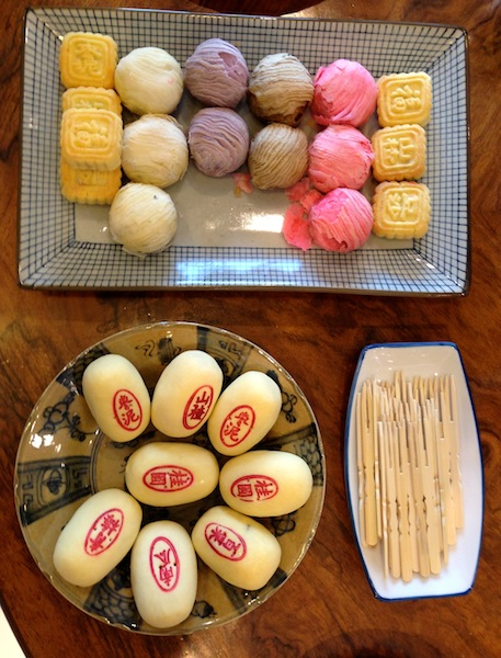 Traditional and colourful Traditional Chinese pastries