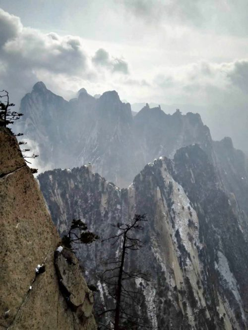 View from the summit at Huashan.